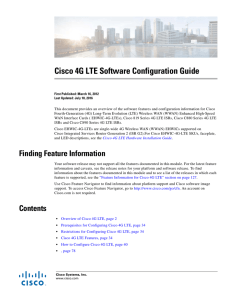 Cisco 4G LTE Software Configuration Guide