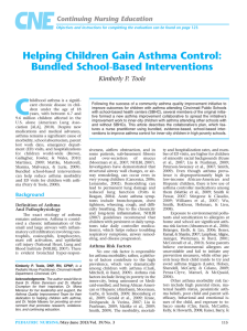 Helping Children Gain Asthma Control