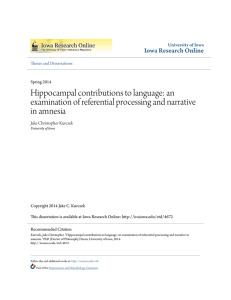 Hippocampal contributions to language