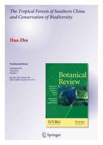 The Tropical Forests of Southern China and Conservation of