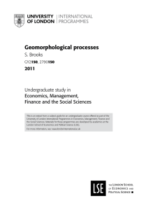Geomorphological processes - University of London International