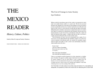 "Clendinnen, ""The Cost of Courage in Aztec Society"""