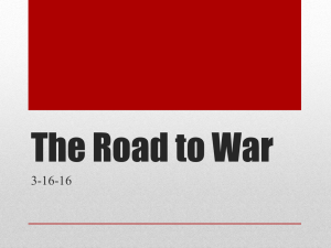 The Road to WWI Notes