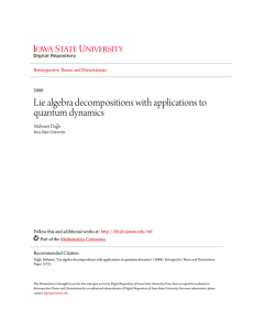 Lie algebra decompositions with applications to quantum dynamics