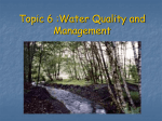 Topic 6 :Water Quality and Management