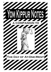 Yom Kippur Notes - Summer 08 - for PDF