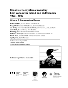 Sensitive Ecosystems Inventory: East Vancouver Island and Gulf