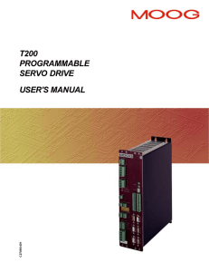 t200 programmable servo drive user`s manual