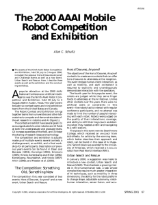 The 2000 AAAI Mobile Robot Competition and Exhibition