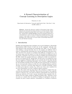 A Formal Characterization of Concept Learning in Description Logics