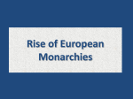 Rise of European Monarchies