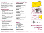 Linguistics Brochure - Bloomsburg University