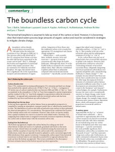 The boundless carbon cycle - Stroud Water Research Center