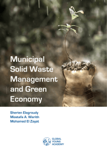 Municipal Solid Waste Management and Green Economy