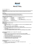 Resume - Michael Bell`s Blog