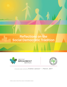 Reflections on the Social Democratic Tradition