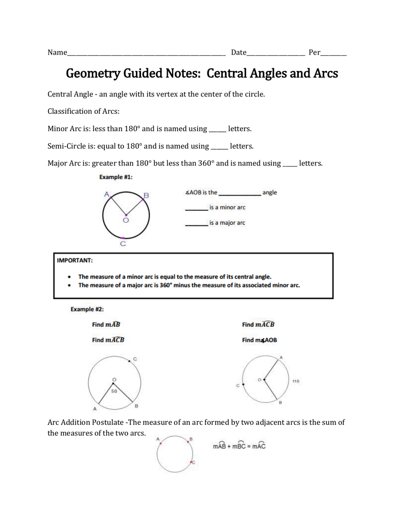Angle s   Central Angle   s TutorVista further Arcs Central Angles And Inscribed Angles   Oaklandeffect moreover Central Angles and Arcs Guided Notes further  also Geometry Circle Worksheets Central Angles And Arcs In Circles besides How to Identify Arcs and Central Angles   dummies moreover  as well Quiz   Worksheet   Central Angle   Study in addition Arc length  practice    Circles   Khan Academy moreover Analytic Geometry Central And Inscribed Angles With Alge besides Arcs and Central Angles Interactive Notes  Free by Rise over Run also  as well  likewise Working with Arcs and Central Angles Worksheets   Math aid in addition Geometry   Clark   Central Angles and Arcs as well Identifying Missing One  Arc Length   Teaching   Geometry   Teaching. on arcs and central angles worksheet