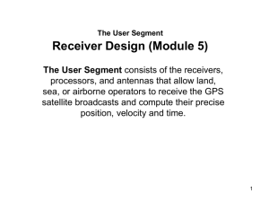 Receiver Design - School of Electrical Engineering and Computer