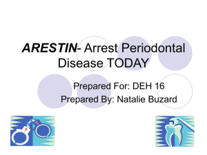 Arestin- Arrest Periodontal Disease TODAY