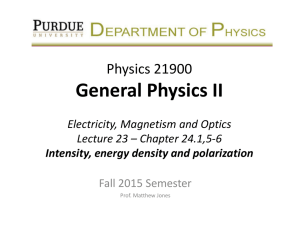 Lecture 23 - Purdue Physics