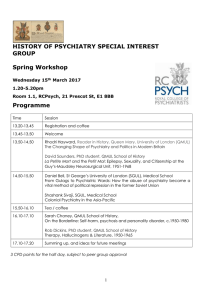 HISTORY OF PSYCHIATRY SPECIAL INTEREST GROUP