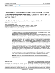 The effect of subconjunctival ranibizumab on corneal and anterior