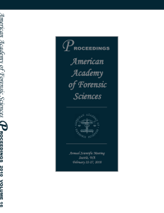 Volume 16 - American Academy of Forensic Sciences