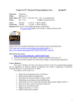 Comp Sci 337 Advanced Programming in Java Spring`04