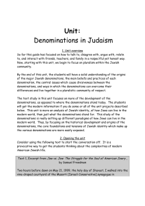 Denominations in Judaism