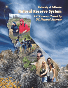 UC Courses - UC Natural Reserve System