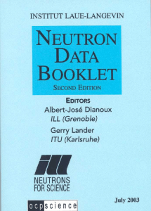 Neutron Data Booklet - Institut Laue