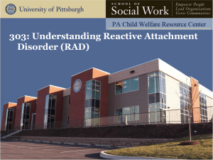 1. Understanding Reactive Attachment Disorder