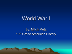 World War I - Wright State University
