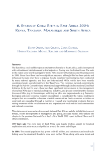 Status of Coral Reefs in East Africa 2004, GCRNM