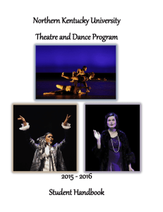 Northern Kentucky University Theatre and Dance Program 2015