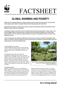 Global warming and poverty
