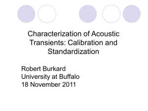 Characterization of Acoustic Transients: Calibration and