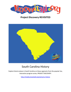 South Carolina History Teacher`s Guide