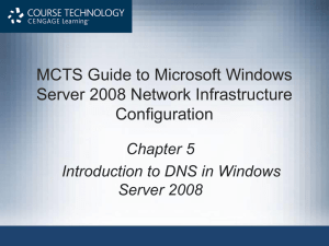 Introduction to DNS in Windows Server 2008