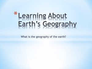 Learning About Earth`s Geography - Hewlett