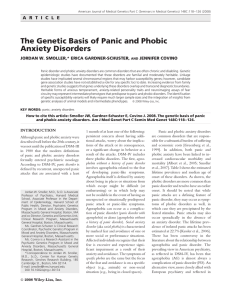 The genetic basis of panic and phobic anxiety disorders