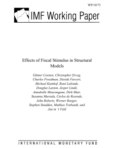 Effects of Fiscal Stimulus in Structural Models