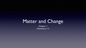 Ch.1-Matter and Change