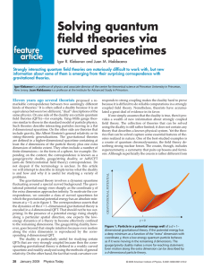 Solving quantum field theories via curved spacetimes