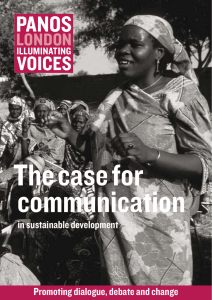 The Case for Communication in Sustainable Development