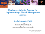 Challenges in Latin America for Implementing a Biorisk