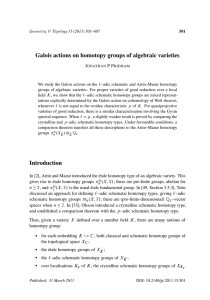 Galois actions on homotopy groups of algebraic varieties