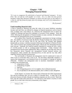 08 Managing Financial Risk