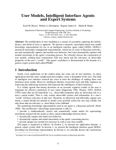 User Models, Intelligent Interface Agents and Expert Systems