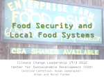 Urban and Peri-Urban Agriculture and Local Food Systems